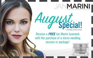Receive a FREE Jan Marini Juveneck with the purchase of a mirco-needling session or package!
